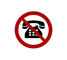 No Analog Phones Thank You Photographic Print