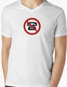 No Analog Phones Thank You Mens V-Neck T-Shirt