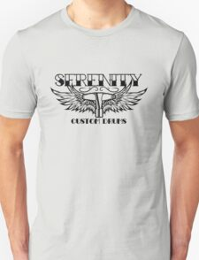 Serenity Custom Drums Black Logo T-Shirt