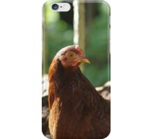 Lucy, the Rhode Island Red Hen iPhone Case/Skin