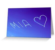 Mia x Greeting Card