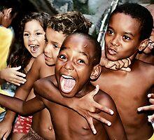 Rocinha Favela Kids, Rio de Janeiro Brazil 2009 by Tash  Menon
