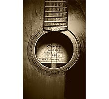 Acoustic Guitar Photographic Print