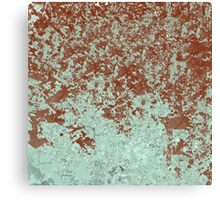 Green and Wine Abstract Design Canvas Print