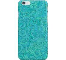 Waves hand drawn pattern, wavy background iPhone Case/Skin