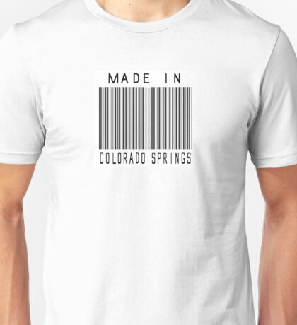 Made in Colorado Springs Unisex T-Shirt