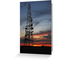 Broadcast Tower Greeting Card