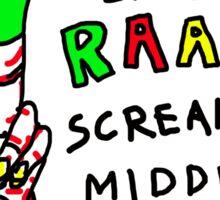 """Middle Finger Puppet"" Sticker"