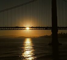 Sunrise, Golden Gate Bridge by Christopher Biggs