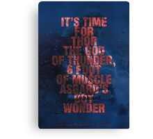 Thor - Typography Canvas Print
