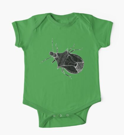 Stink Bug Pen and Ink, Inverted One Piece - Short Sleeve