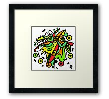 Abstract Drawing Colourful Mess Framed Print