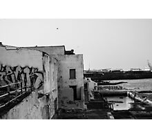 Abandoned Pool - Baths - Dun Laoghaire Photographic Print
