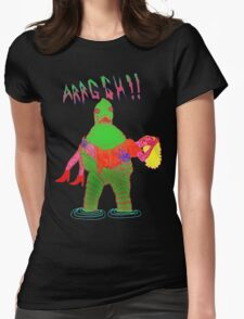 Swamp Monster Womens Fitted T-Shirt