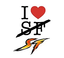 I <3 SF (Street Fighter) Photographic Print