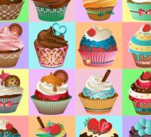 Cupcake Pattern Sticker