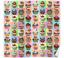 Cupcake Pattern Poster