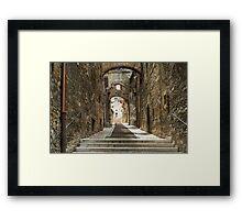 Narni - Cobbled Alley Framed Print