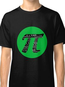 Pi Day graphic in green and black  Classic T-Shirt