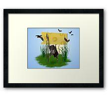 Heavy cheese Framed Print