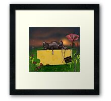 Cheese is heavy! Framed Print