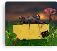 Cheese is heavy! Canvas Print