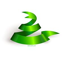 Green ribbon. Snake.  by #pavel petrov  art2