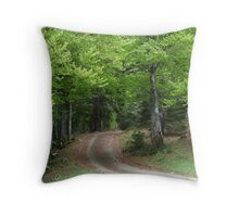 In the mysterious wood Throw Pillow
