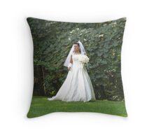 New York Bride Throw Pillow