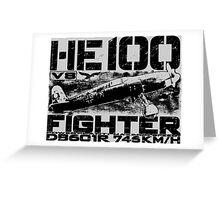 Heinkel He 100 Greeting Card
