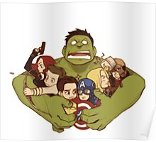 Avengers crazy art Poster