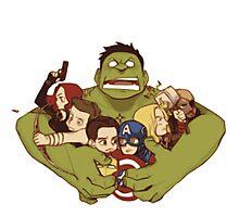 Avengers crazy art Photographic Print