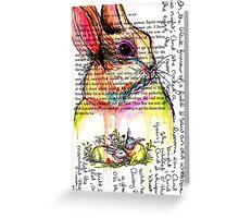 Rabbit Watercolor Journal Greeting Card