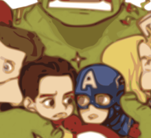 Avengers crazy art Sticker