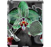 flowers on grey pattern iPad Case/Skin