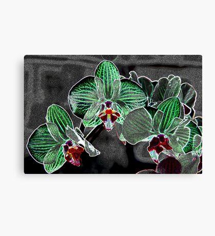 flowers on grey pattern Canvas Print