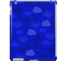 Morning Blues with Puzzles and Diamonds iPad Case/Skin