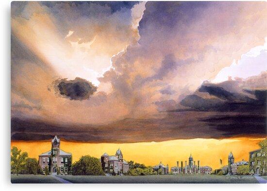 """""""Mizzou 1915"""" Watercolor by Paul Jackson"""