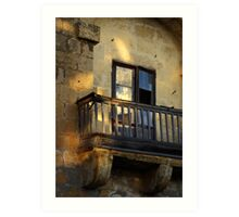 Balcony detail Art Print