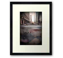 rushing home Framed Print