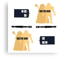 Doctor Who Pattern 1 Canvas Print