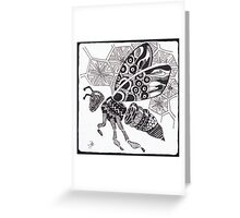 Tangled Bee Greeting Card