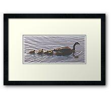 Mom & The Kids Framed Print