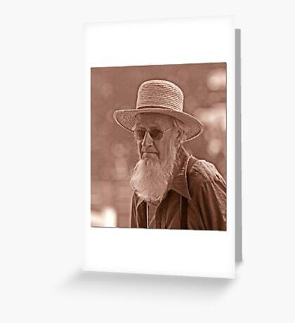 Amish Portrait Greeting Card