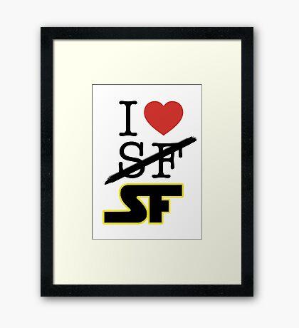 I <3 SF (Science Fiction) Framed Print
