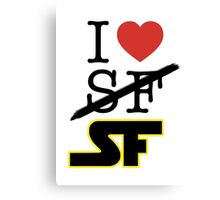 I <3 SF (Science Fiction) Canvas Print