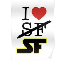 I <3 SF (Science Fiction) Poster
