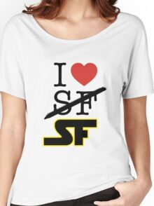 I <3 SF (Science Fiction) Women's Relaxed Fit T-Shirt