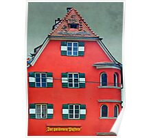 Red Building Poster