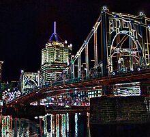 Clemente Bridge Posterized by wbelajac